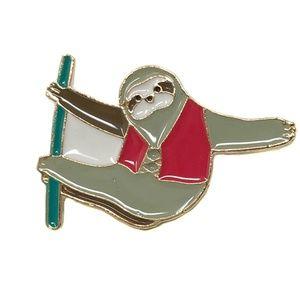 Hanging Sloth Enamel Pin